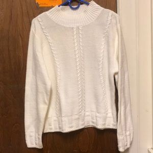 White, knit sweater.